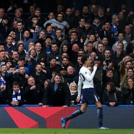 La reacción de la afición del Chelsea ante el gol de Delle Alli nos regaló la postal del fin de semana en la Premier.