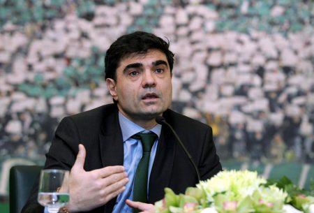 Giannis Vardinogiannis en su etapa como presidente del Panathinaikos