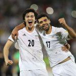 Azmoun y Taremi con la selección de Irán
