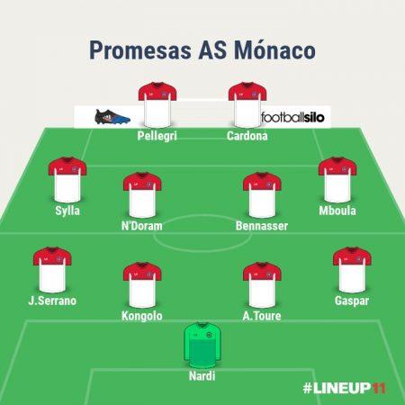 Once con las jóvenes promesas del Mónaco