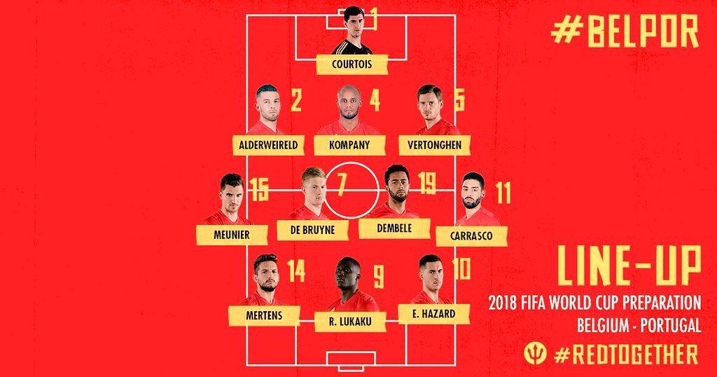 11 titular Bélgica Mundial de Rusia