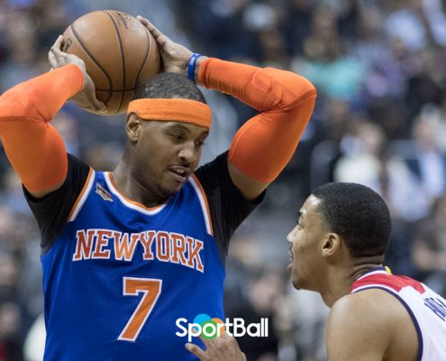 Carmelo Anthony a Houston Rockets con Chris Paul y James Harden