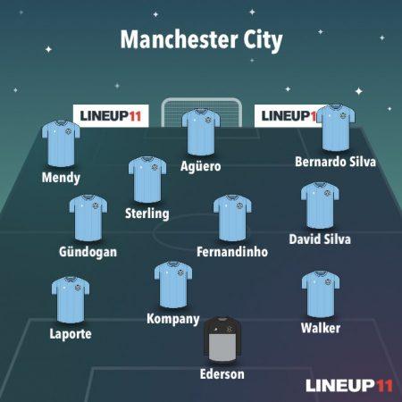 análisis del Manchester City 2018-19: 11 titular
