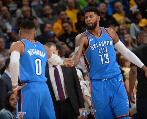 plantilla Oklahoma City Thunder 2018-19: Russell Westbrook y Paul George