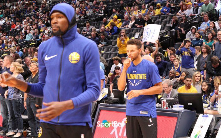 Kevin Durant y Stephen Curry, líderes de la plantilla Golden State Warriors 2018-19.