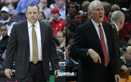 entrenador y presidente de operaciones: Tom Thibodeau y Gregg Popovich