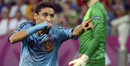 Jesús Navas celebra el gol del triunfo frente a Croacia. Foto: Cadena Ser