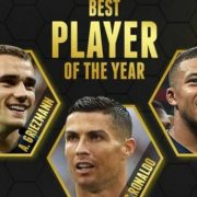 Cristiano, Griezmann y Mbappé finalistas de los Globe Soccer Award 2018