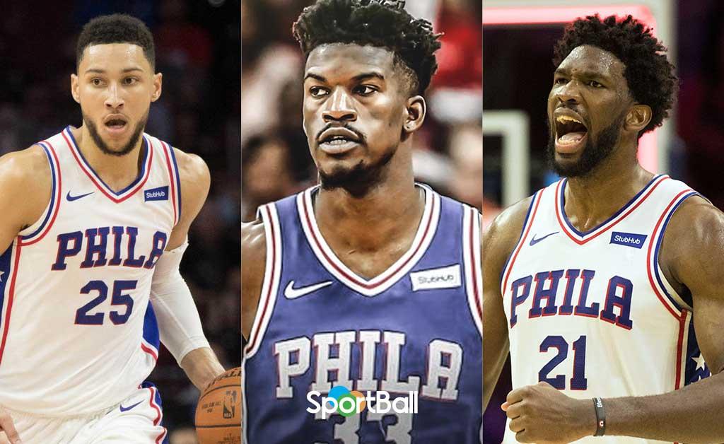 Simmons, Butler y Embiid, el nuevo Big-3 de los Sixers y la NBA.