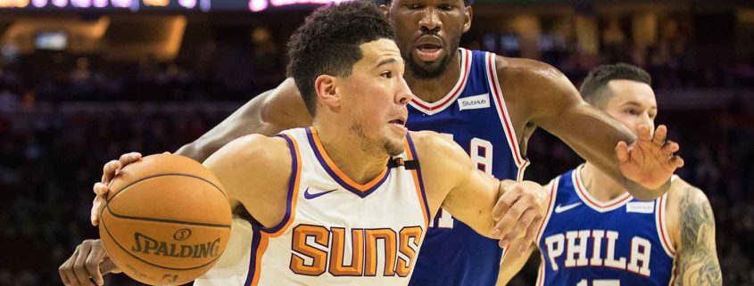 Suns y Sixers Booker y Embiid