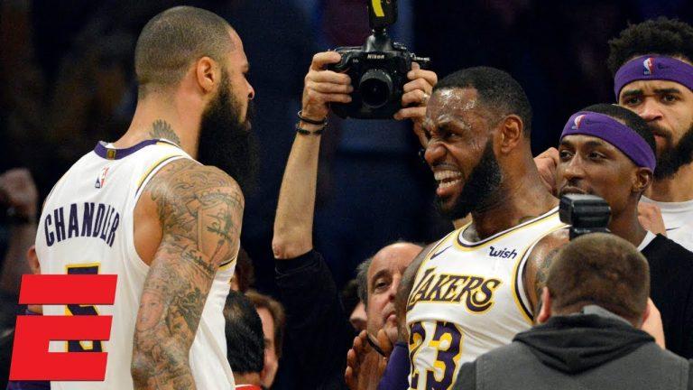 Tyson Chandler LeBron James Lakers