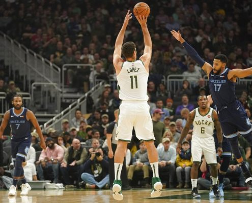 estadísticas de Brook Lopez Milwaukee Bucks en 18-19