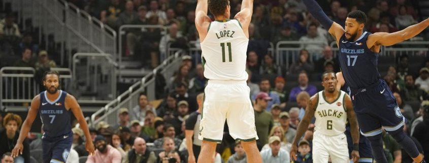 estadísticas de Brook Lopez Milwaukee Bucks en 18-19