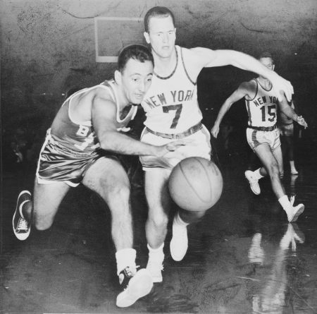 Bob Cousy Boston Celtics vs New York Knicks
