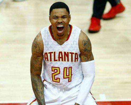 Kent Bazemore Atlanta Hawks 2018-19