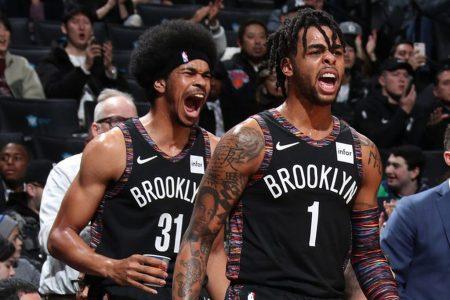 Jarrett Allen D'Angelo Russell Brooklyn Nets 2018-19
