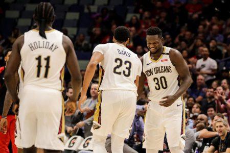Jrue Holiday Julius Randle Anthony Davis New Orleans Pelicans 2018-19