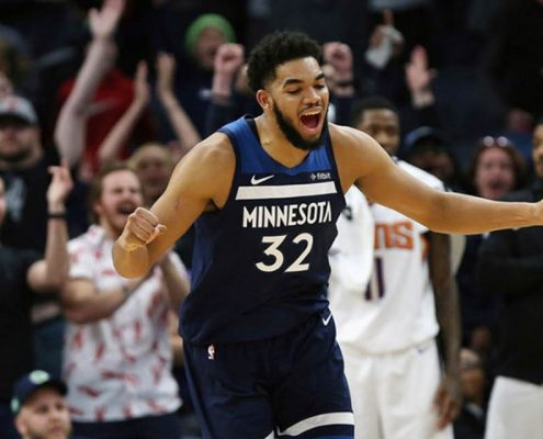 Karl-Anthony Towns Minnesota Timberwolves 2018-19
