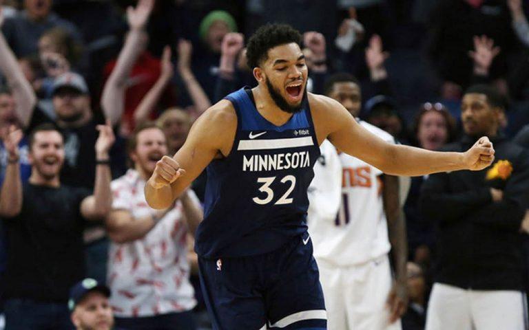 Karl-Anthony Towns Minnesota Timberwolves 2018-19