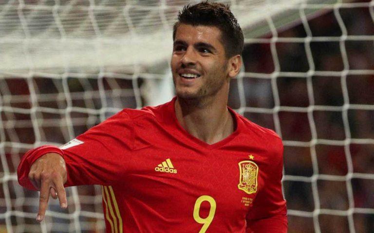 Morata, en la imagen con España, es nuevo delantero del Atlético de Madrid.