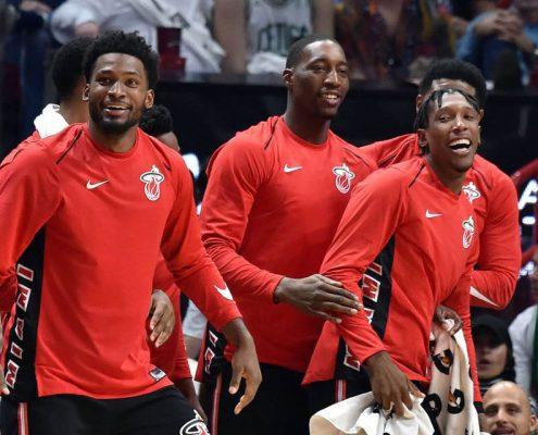 Justise Winslow, Bam Adebayo y Josh Richardson, futuro de Miami Heat