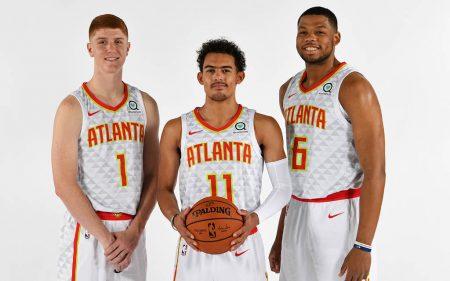 Kevin Huerter, Trae Young y Omari Spellman, elecciones del draft 2018 de Atlanta Hawks