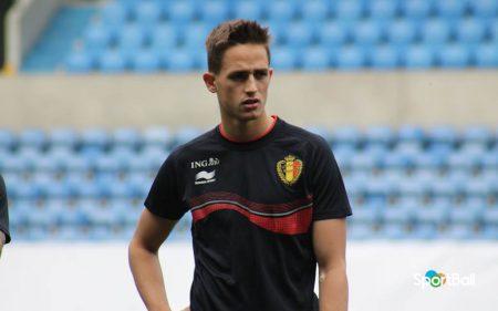 Adnan Januzaj con la Selección de Bélgica