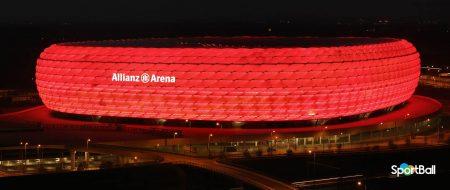 Estadios con más porcentaje de asistencias: Allianz Arena Bayern Munich