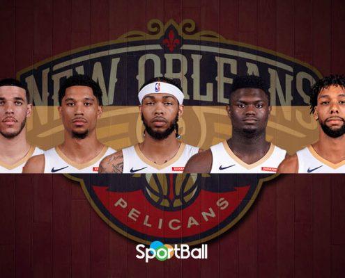 Ball, Hart, Ingram, Zion y Okafor forman la young-corede los Pelicans.