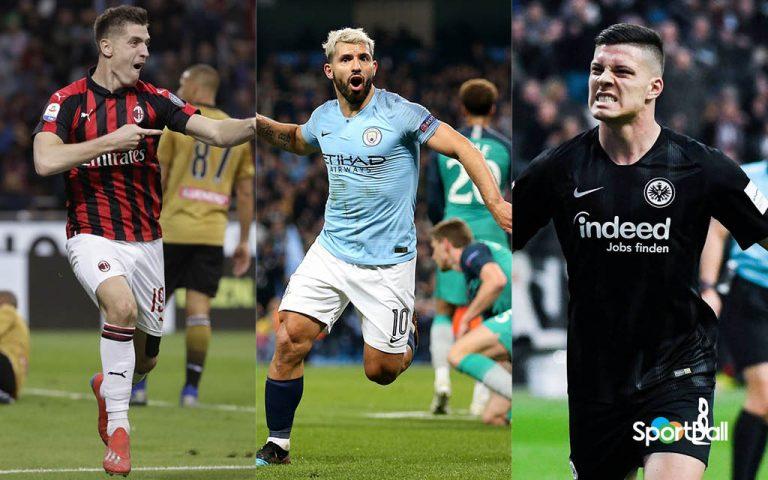 Máximos goleadores de las ligas europeas 2018-19 - Piatek, Agüero y Jovic