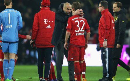 Pep Guardiola y Joshua Kimmich en el Bayern de Munich