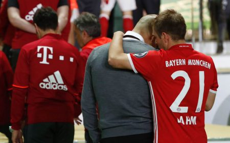 Pep Guardiola y Philipp Lahm en el Bayern de Munich