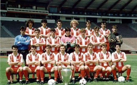 Plantilla del Estrella Roja en 1991