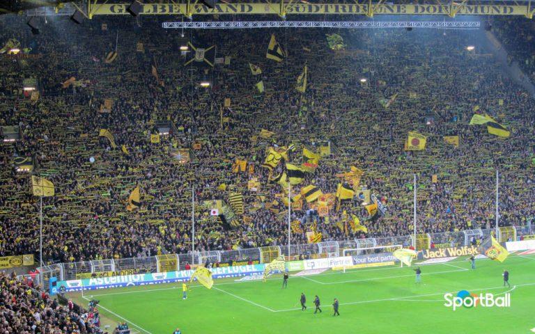 Estadios con más porcentaje de asistencias: Signal Iduna Park Borussia Dortmund