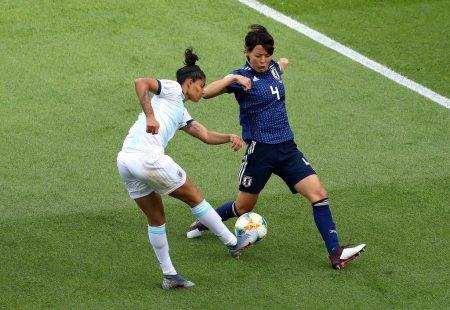 Argentina ataca a Japón pero sin éxito. Imagen vía: Fifa.com