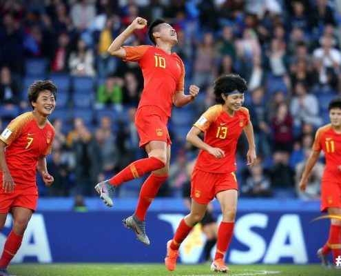 China suma sus primeros puntos ante Sudáfrica. Imagen vía: Fifa.com