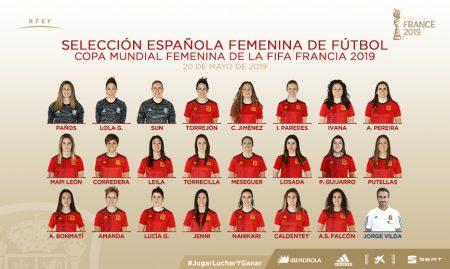 Convocatoria de la Selección Española para el Mundial Femenino de 2019 en Francia