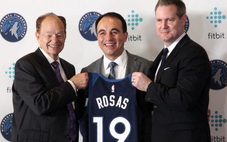 Gersson Rosas, en su presentación como nuevo General Manager de Minnesota Timberwolves