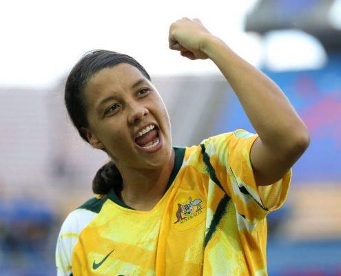 Kerr, jugadora del partido ante Jamaica. Imagen vía: Fifa.com