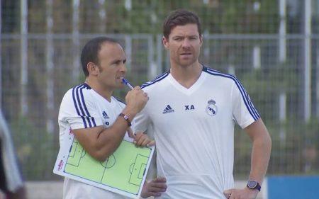 Xabi Alonso, entrenador del Infantil A del Real Madrid