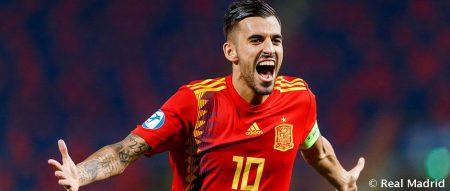 Dani Ceballos con España en el Europe sub 21