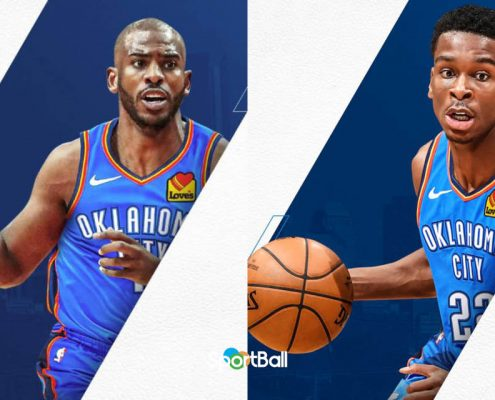 Chris Paul y Shai Gilgeous Alexander Oklahoma City Thunder