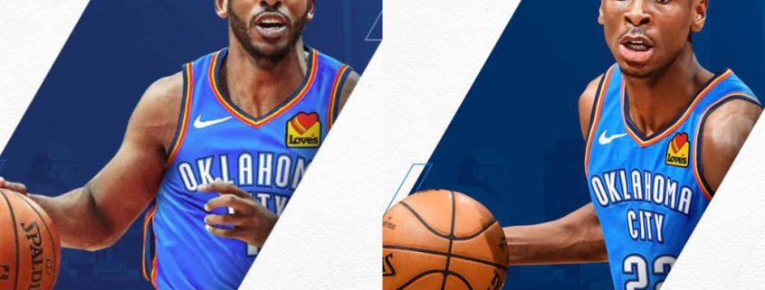 Chris Paul y Shai Gilgeous Alexander Oklahoma City Thunder
