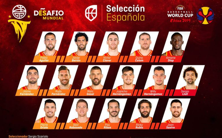 Convocatoria de España para el Mundial de China 2019