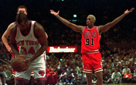 Dennis Rodman, 7 veces mejor reboteador de la NBA, es uno de los robos del draft.