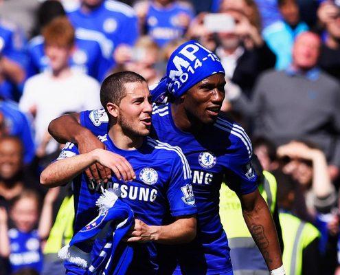 Eden Hazard y Didier Drogba son dos de los mejores extranjeros de la historia del Chelsea.