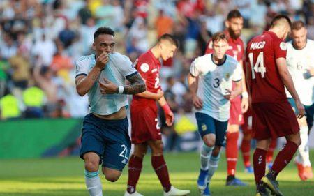 Lautaro Martinez está liderando a Argentina en la Copa América 2019