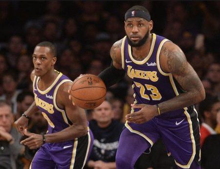 LeBron James y Rondo, bases de los Lakers 2019-20.