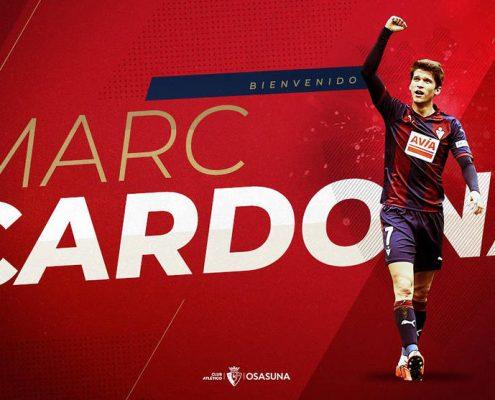Marc Cardona es uno de los fichajes del Osasuna 2019-2020.