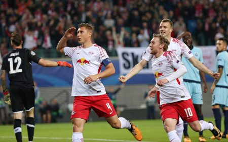 El Red Bull Leipzig llegó a jugar la Champions League